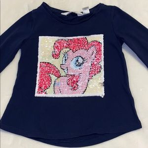 My little pony flip sequins long sleeve shirt